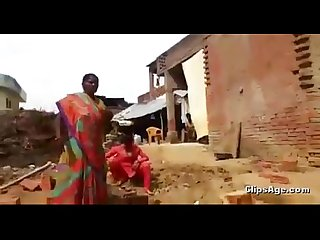 desi worker aunty abusing