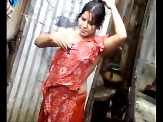 desi woman bath